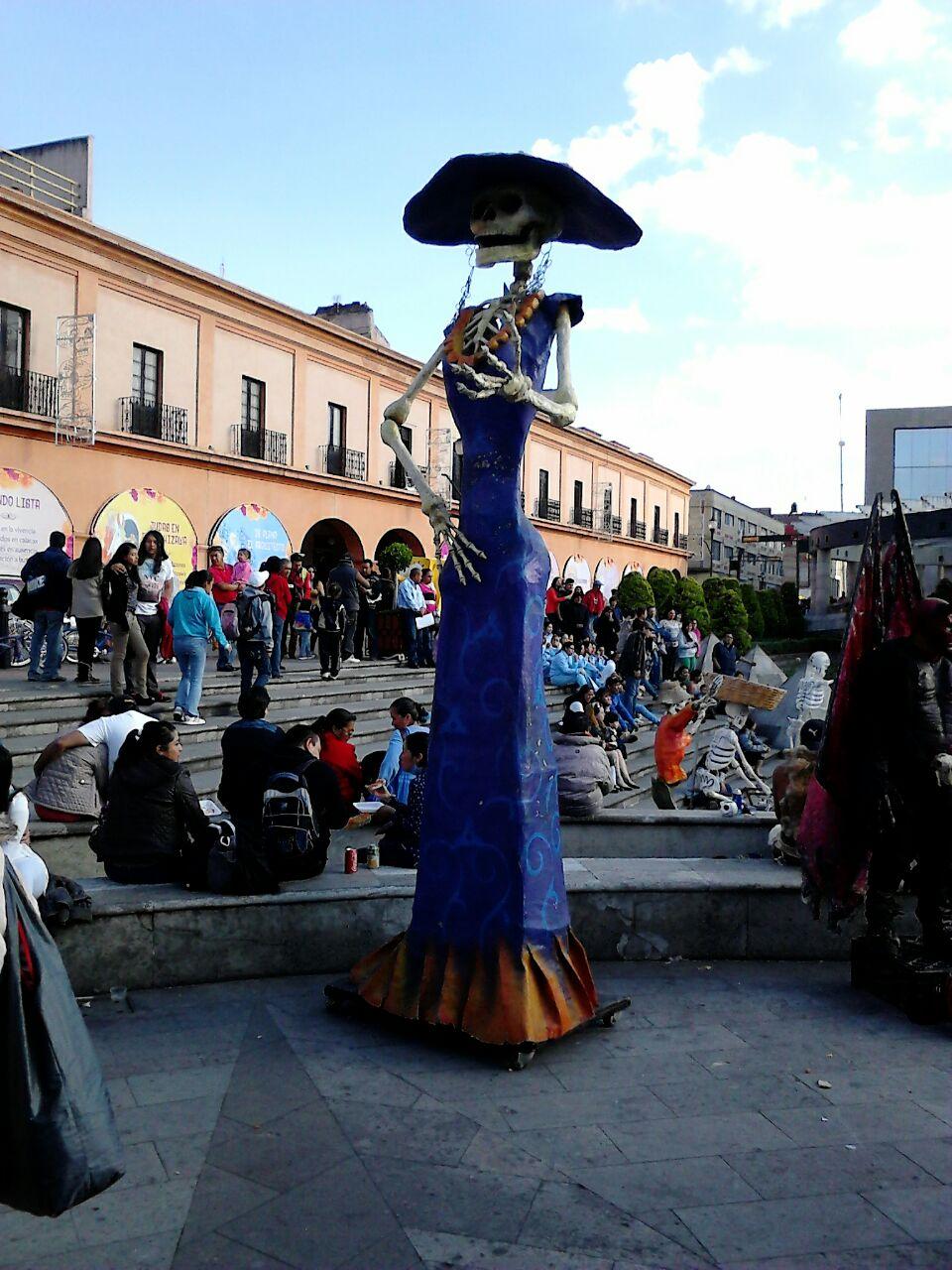 Catrina en el centro de la Ciudad de Toluca