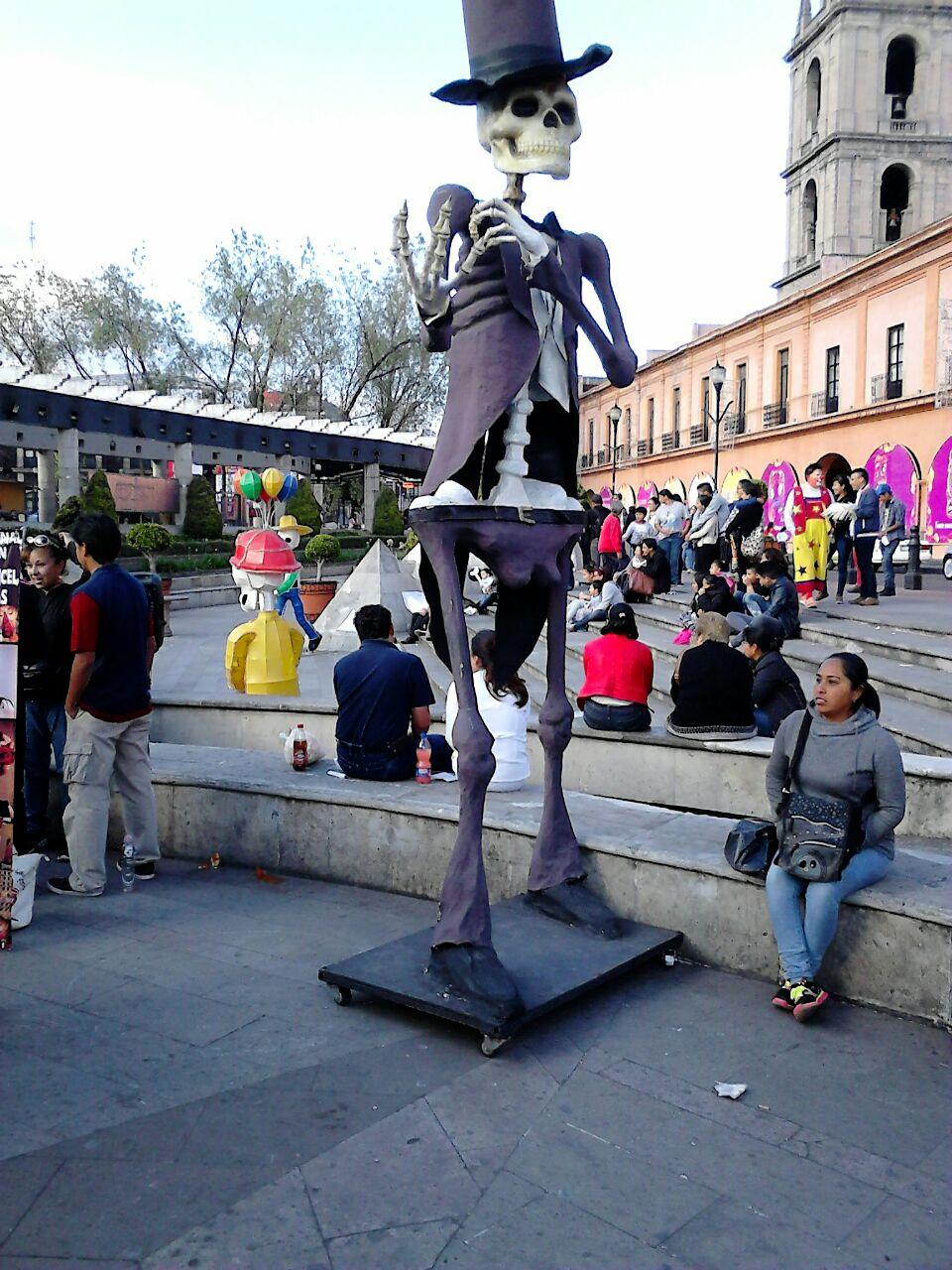 Catrin en el centro de la Ciudad de Toluca